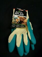 1 Pair Atlas Showa 310 Grip Green Nylon Work Gardening Gloves Brand New