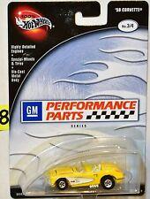 100% Hot Wheels Rendimiento Partes Serie '58 Corvette #3/4 Amarillo