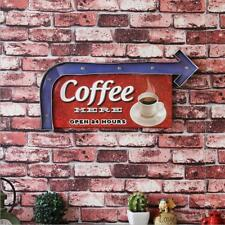 Coffee Here Open 24 Hours Led Metal Signs Cafe Shop Wall Decor Art Marquee Light