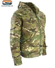MENS ARMY HOODIE FULL ZIP JACKET CAMO FLEECE LINED HOODY AIRSOFT BTP CAMO (XXXL)