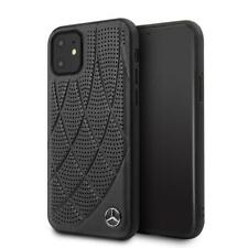 Mercedes-Benz Genuine Leather Hard Case iPhone 11 Cell Phone Case Black