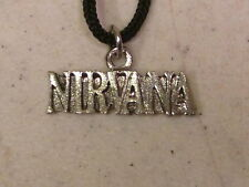 Vintage Nirvana Necklace Pendant On Rope Cord
