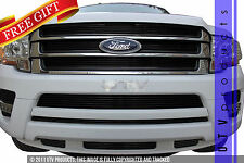 GTG 2015 - 2017 Ford Expedition 9PC Gloss Black Billet Grille Grill Insert Kit