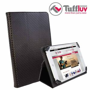 "TuffLuv Uni-View 10"" Tablet Universal Stand Cover Shockproof Flip Case Black"
