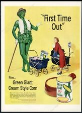 1952 Jolly Green Giant First Time Out photo creamed corn vintage print ad