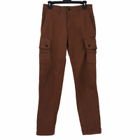 Levi's Mens size 29x32 Solid Brown Flat Front Cotton Twill Cargo Style Pants
