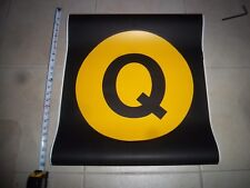 22x24 Q NYC SUBWAY ROLL SIGN SECOND AVE MANHATTAN BROOKLYN BRIGHTON BEACH YELLOW