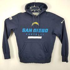 Nike Mens VTG San Diego Chargers Hoodie Sweatshirt Sz M Medium Blue White Solid