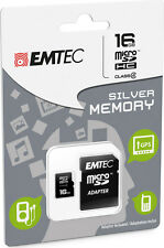 MicroSD HC Memory Card + Adapter 16GB Silver (MP3-MP4) IT IMPORT EMTEC