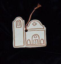 Vintage California Mission Hanging Clay Ornament Souvenir 1980's Church