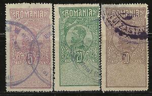 ROMANIA Classic REVENUES...50 bani, 5 lei & 20 lei...Used