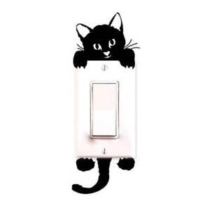 New Hot Item Cute Kitten Light Swich Decal Vinal Wall Sticker Nursery Boys Girls