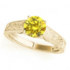 0.5 Ct Canary Yellow Diamond Solitaire Wedding Ring Stunning 14k Yellow Gold