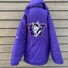 PUMA Purple Gold University of Washington UW Winter Jacket Coat Men's Size XL