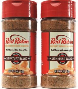 2 Count Red Robin Bold Gourmet Flavor Signature Seasoning Blend 4Oz BB 1-26-22