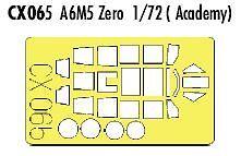 Eduard 1/72 A6M5 cero dosel fama y ruedas Etc # CX065