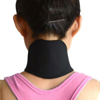 Neck Heat Therapy Support Belt Self Heating Tourmaline Magnetic Wrap Brace pain