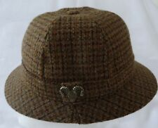Vintage mens FAILSWORTH England  Wool Tweed Hat Ram Head Pin