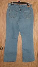 "LEVI STRAUSS size 12 Short Mid Rise Bootcut Jeans Waist 32"" Inseam  29"" Womens"
