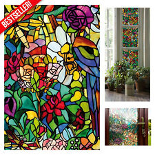 Stained Glass Window Film Home Bathroom Privacy Decorative Self Adhesive Sticker