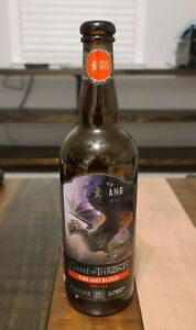 Game of Thrones FIRE AND BLOOD RED ALE Beer Bottle, Ommegang Brewery 750 ml