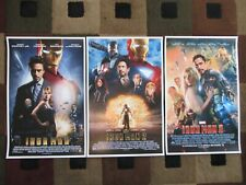 "Iron man 1,2 & 3 (11"" x 17"") Movie Collector's Poster Prints (Set of 3)"