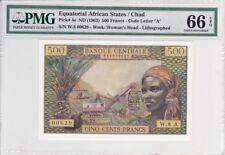 Equatorial African States/Chad 1963 500 Francs P-4e Pmg Gem Unc 66 Epq