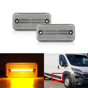 FIT FIAT DUCATO 2001-2019 FRONT AMBER LED SIDE AMRKER LIGHTS FOR IVECO RENAULT