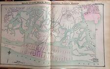 1914 ATLAS MAP LONG BEACH BAY'S CHANNELS BALDWIN HARBOR NASSAU LONG ISLAND NY