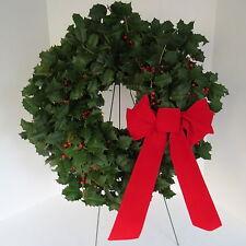 FRESH HOLLY WREATH WREATHS CHRISTMAS HOLIDAY
