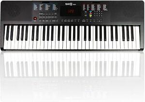 Keyboard Klavier RockJam 61 Tasten Klaviernote Musikinstrument Tastatur schwarz