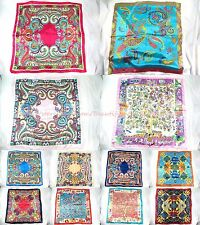 "US SELLER-lot of 12 vintage boho 39"" large satin square scarf long scarf product"