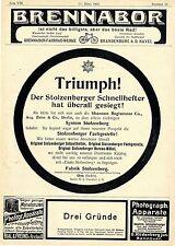 Stolzenberg * Brennabor * Bial & Feund * Dr.Oetker Historische Annoncen von 1903