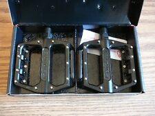 """Redline Lo-Profile Replaceable Pins Platform BMX Mountain Bike Pedal Blk 9/16"""""""