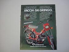 advertising Pubblicità 1983 CIMATTI GRINGO 50 GT