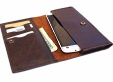 genuine real leather Case Fit Samsung Galaxy Note 2 3 book wallet handmade soft