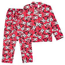 NWT Disney Licensed Minnie Mouse Girls Red Flannelette Winter Pyjamas Size 14