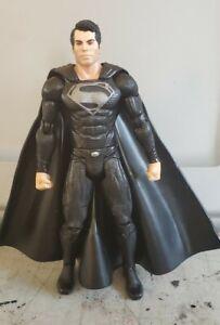 "Man of Steel Movie Masters SUPERMAN 6"" Black Suit Figure 1/12 JUSTICE LEAGUE"