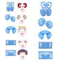 1 Set Reusable Face Painting Body Art Stencil Template Festival Stage Makeup