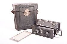 Polyscop stereo camera by Ica with Tessar f/4.5 - 90mm. 6x13cm format. With case