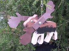 Moose Mini Whirligigs Whirligig Windmill Yard Art Hand from wood