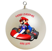 Personalized Super Mario Kart Christmas Ornament