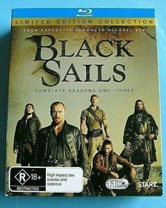 BLACK SAILS Season 1 2 3 BLU-RAY (Seasons 1-3) see below
