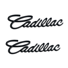 2x Matte Black Cadillac Car Rear Trunk Lid Emblem for ATSL Escalade DeVille CTSV