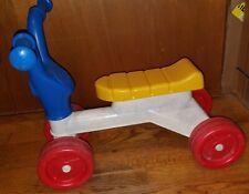 Vintage Playskool Plastic Multi-Colored Tyke Bike Trike Low Ride On Scooter Toy