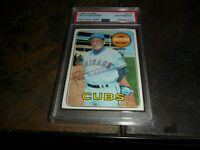 1969 Topps #147 LEO DUROCHER Autograph Signed Chicago Cubs PSA/DNA  D.1991