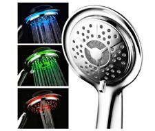 Aqua Spa Luxury LED Color-Changing Handheld Shower Head Chrome Hand Held High