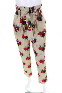 Adam Lippes Womens Cotton Silk Patterned High Rise Pants Multicolor 2 LL19LL