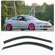 For 94-01 Acura Integra DC2 3Dr Smoke Tinted JDM Side Window Visors Rain Guard