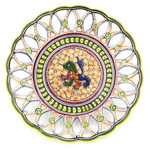 Coimbra Ceramics Hand-painted Hanging Decorative Plate XV Cent Recreation #216